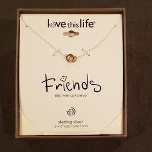 "Sterling Silver ""Best Friends Forever"" 16"" necklce"